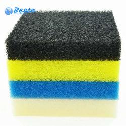 Filtro de esponja acuario de agua 10-60ppi de espuma de poliuretano reticulado filtrar