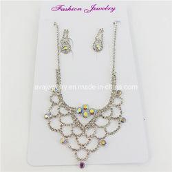 Commerce de gros cristaux de forme Net mariage robes de mariée Necklace Earrings Bijoux Set