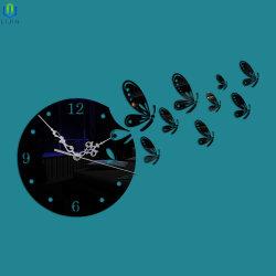 De creatieve Acryl 3D Klok van de Spiegel, de Moderne Klok van de Muur van het Deeg voor de Decoratie van het Huis