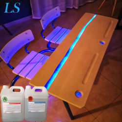 Commerce de gros cristal liquide clair de la Colle résine époxy pour table en bois Haut de page