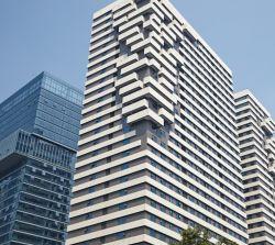 High Recycling Rate terracotta Facade Panels voor verfraaien van de stad Het bouwen van gordijnmuren