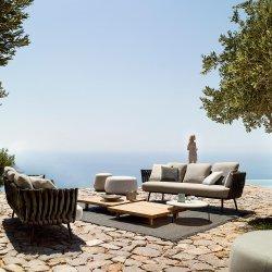 Поворот на открытом воздухе диван стул мебель обеденный набор плетеной