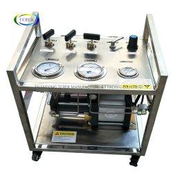 Terek 고압 150-300 바 압력 공기 구동 질소 또는 헬륨 또는 아르곤 또는 부탄 가스 승압기 이동 펌프 장비