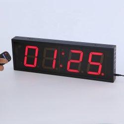 O GPS sincronizados LED Tempo Visor do relógio digital 4 polegadas de 4 dígitos