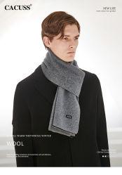 El hombre de alta calidad 100%Lana Cashmere tejer una manta Bufanda de invierno