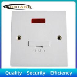 BS 13A مفتاح حائطي كهربائي مزهر مزود بمنصهر ذي ضوء كهربي مع Neon