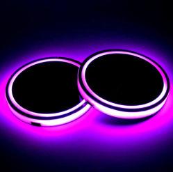 LED recargable USB Cup Coaster de Coches usados
