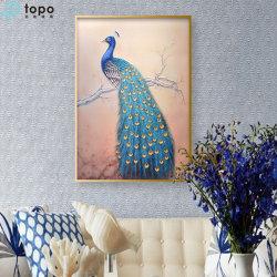 Peafowl-Glasabbildung-Wand-Dekoration-Glasfarbanstrich (MR-YB6-2030)