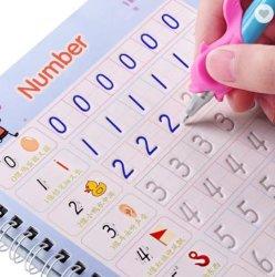 4 Libro 1 penna Magic pratica copybooks Calligraphy Libro riutilizzabile Può essere personalizzato per i bambini