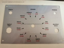 Ácido personalizados metálicos isolados gravado na placa de alumínio em aço inoxidável