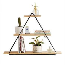 Triángulo de Hierro forjado dormitorio estante estante decorativo Pared creativo 0587