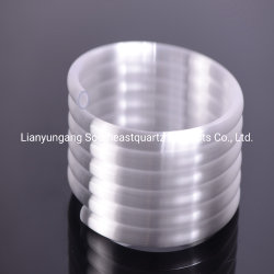 Espiral opaco lechoso de densidad de tubo de cristal de cuarzo.