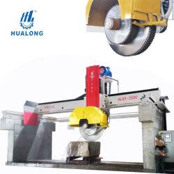 Hualong Stone Machinery Hlqy-2500 고효율 멀티블레이드 브릿지 석재 블록 절단 기계 블록 절단 및 슬랩 절단 작업을 위한 화강암 대리석 커터