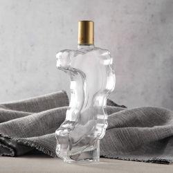 Кристально чистый звук нерегулярных стеклянную бутылку Whickey&текилы контейнер бокалы с помощью винтов с