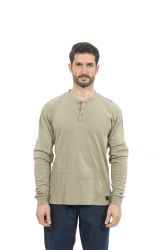 A NFPA 2112 Fr de vestuário de trabalho 100% algodão T-Shirts Henley Shirt Exterior de segurança o vestuário de trabalho para homens