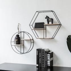 Vintage Venda Quente Prateleira de parede de madeira flutuante de Metal