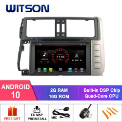 Четырехъядерные процессоры Witson Android 10 DVD плеер для Toyota Прадо 150 2g 16 ГБ ОЗУ ПЗУ