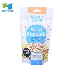 Kundenspezifische Fastfood- Plastiktasche mit Reißverschluss für trockene Nahrung