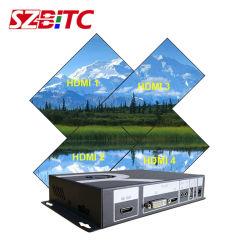 Szbitc 영상 교체 관제사 45/135/225/315 도 텔레비젼 모니터를 위해 원격 제어로 입력되는 영상 처리기 HDMI USB DVI