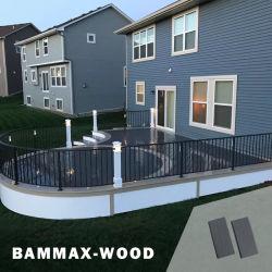 Venda por grosso de madeira jardim exterior à prova de tecto Revestimento composto de plástico