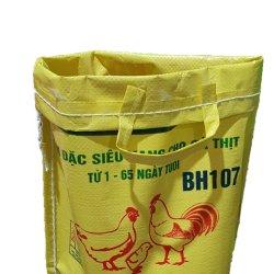 Rijst PP Woven zak kunststof gerecyclede verpakking PP Woven hand Tassen voor het Corn Design Custom-logo