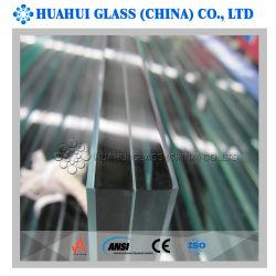 Vidro laminado de segurança com vidro temperado duplo e PVB PEC intercalar para a construção