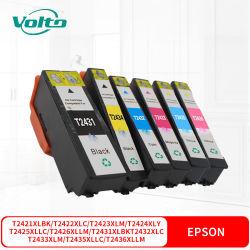 Compatible Epson T2421XL2422T XL2423T XL2424T XL2425T XL2426T XL2431T XL2432T XL2433T XL2434T XL2435T XL2436T XL Cartucho de tinta para XP-750 850 950