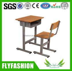 Mobilier en bois utilisé à l'école étudiant seul bureau d'étude/table avec chaise de salle de classe Perschool
