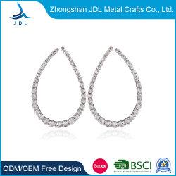 La mode Crystal Huggie gros Gold-Plated femmes Hoop Huggie Earring bijoux (01)