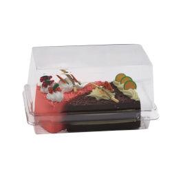 卸し売り透明な Palstic の長方形の小型食糧等級の包装のケーキ箱 食品コンテナ梱包箱
