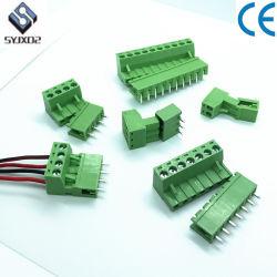Livro Verde-5.08Edgk mm Cabo do conector plug-in de blocos de terminais