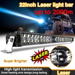 1000m Lighting Super Bright Driving 22 Inch Barra LED Bar 2 Rows Offroad Truck 4X4 Laser LED Light Bar