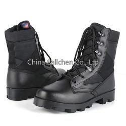 جلد عالي الجودة وأسلوب جيش أكسفورد العلوي الأسود عالي الجودة حذاء الغابة