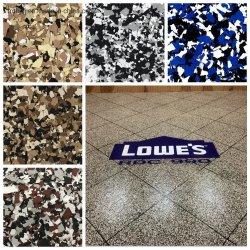 Ausgezeichnete Antibeleg-Bad-Raum-Garage-Flocke bricht Epoxidharz-Fußboden-Beschichtung-Epoxy-Kleber ab