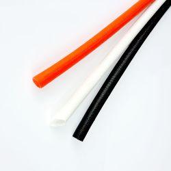 강화 브레이드 섬유 유리 실리콘 튜브, 섬유 외부 고무 내부