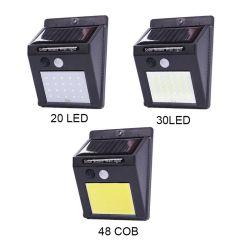 20/30/48 di indicatore luminoso esterno chiaro solare della parete di obbligazione di notte del sensore di movimento della lampada PIR del giardino del LED
