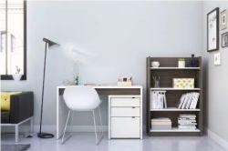 بيضاء حديثة خشبيّة [هوم وفّيس فورنيتثر] يملأ خزانة كتاب خزانة مع 4 طبقة