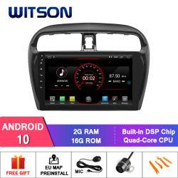 Android Witson 10 Auto Carro Rádio leitor de DVD para a Mitsubishi Mirage 2012