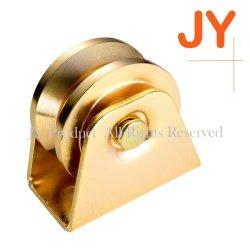 Afrikanische Trapezförmige dreieckige Rad Riemenscheibe Roller für Schiebetor Tür-Pure Goldfarbe