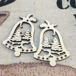 목재 공예 크리스마스 트리 장식 크리스마스 장식을 위한 Jingle Bells
