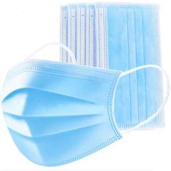 50 peças dentárias descartáveis máscaras faciais com Ear-Loop 3 Ply Máscaras de gripe Alergia Nariz Máscara contra Poeira Azul Filtros contra pó