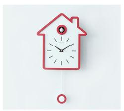 ساعة ديكور خشبية على الحائط من Yjbفضل مع صوت الطيور 4 ألوان للخيارات