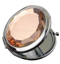 مرآة ماكياج الجيب المحمولة 24ffashion Metal Jewel