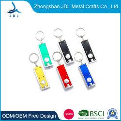 ديكور مخصص رخيص هدية LED سلسلة مفاتيح مضيئة مع أفضل شعار صديق للبيع (040)