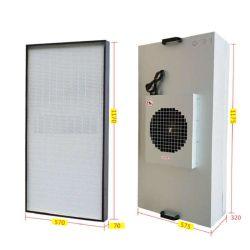 La habitación estaba limpia el Hospital laboratorio UL FFU unidad de filtro de ventilador de la aplicación de los motores de flujo laminar el capó con filtro HEPA dentro