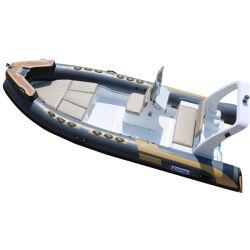 賃貸料の余暇のためのカスタマイズされた5.5m Rib550 Hypalonの膨脹可能な肋骨のボートおよびセリウムが付いている商業冒険の肋骨のボート