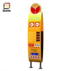 LED السعر محطة الغاز شاشة لوحة علامة الصلب Pylon CNC محطة تعبئة المنازل هيكل فولاذي للقوارب المخصصة لمحطة البنزين
