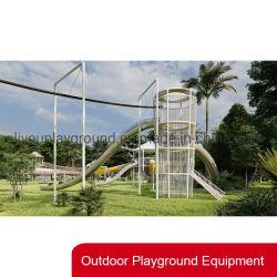 Kids Playground Equipment Outdoor Climbing Frame met roestvrijstalen glijbanen