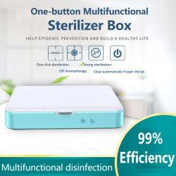 Cuadro de Esterilizador UV portátil Celular higienizador belleza desinfectora caja con cable USB doble luces UV para cualquier pequeña artículos con la función de la aromaterapia