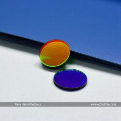 Vidrio óptico de banda estrecha de la aplicación del filtro de paso